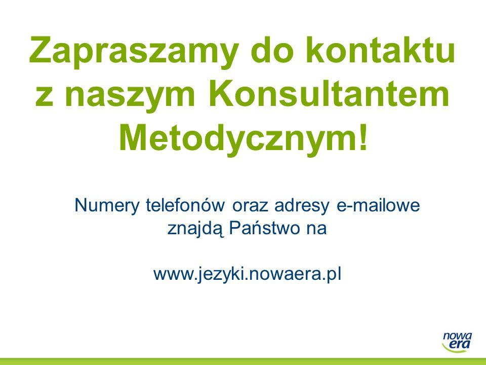 Zapraszamy do kontaktu z naszym Konsultantem Metodycznym!