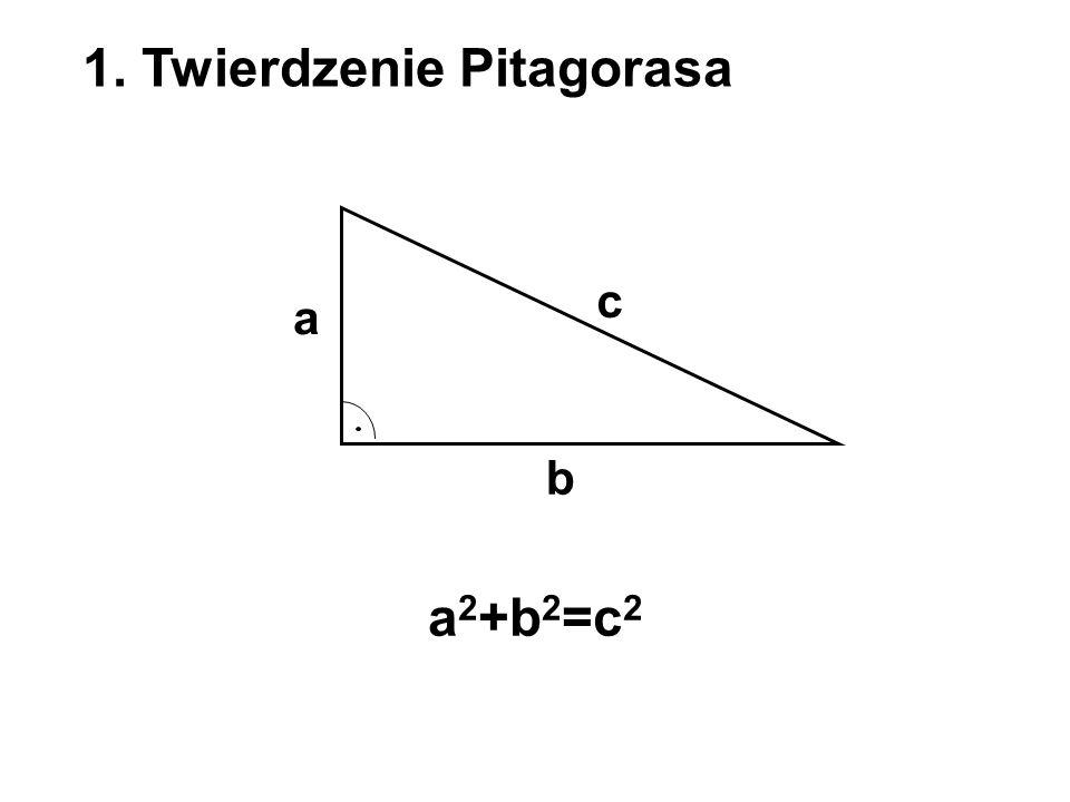 1. Twierdzenie Pitagorasa