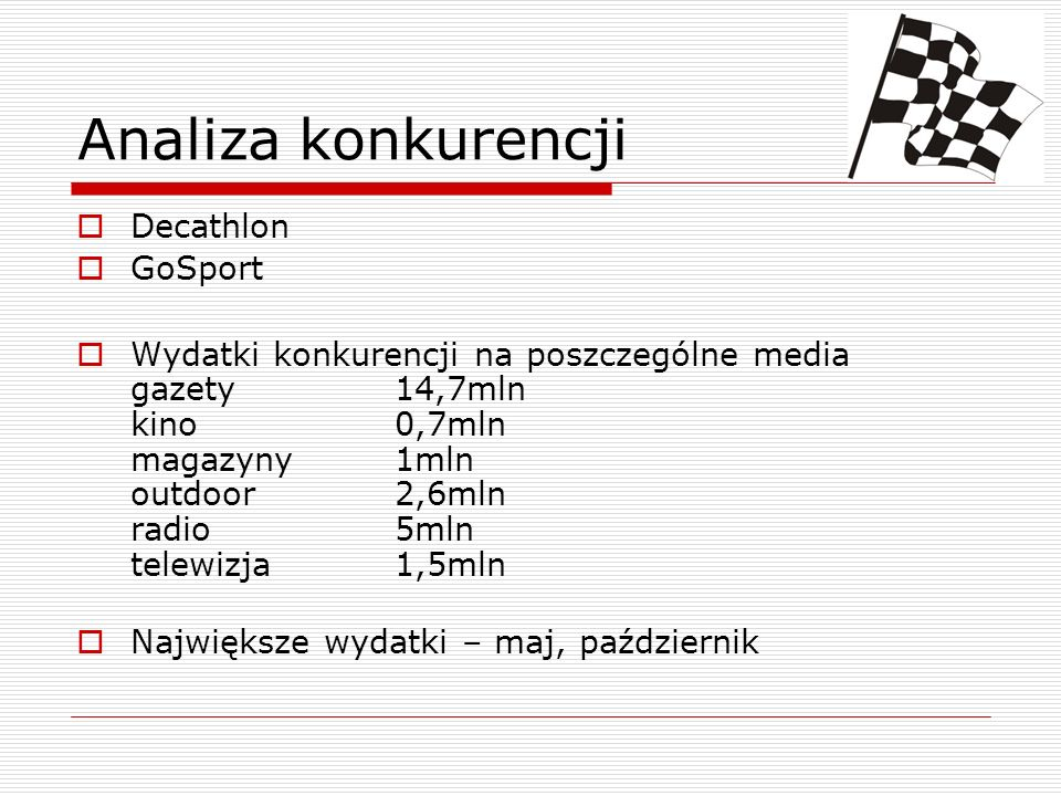 Analiza konkurencji Decathlon GoSport