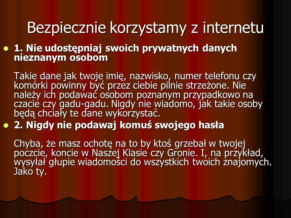 Bezpiecznie korzystamy z internetu