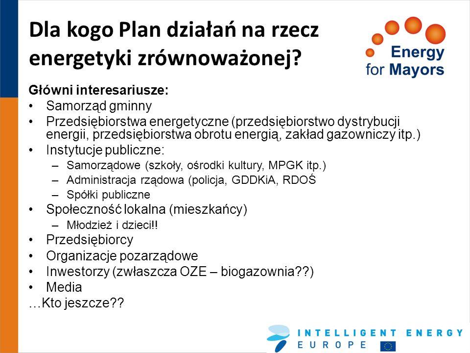 Dla kogo Plan działań na rzecz energetyki zrównoważonej