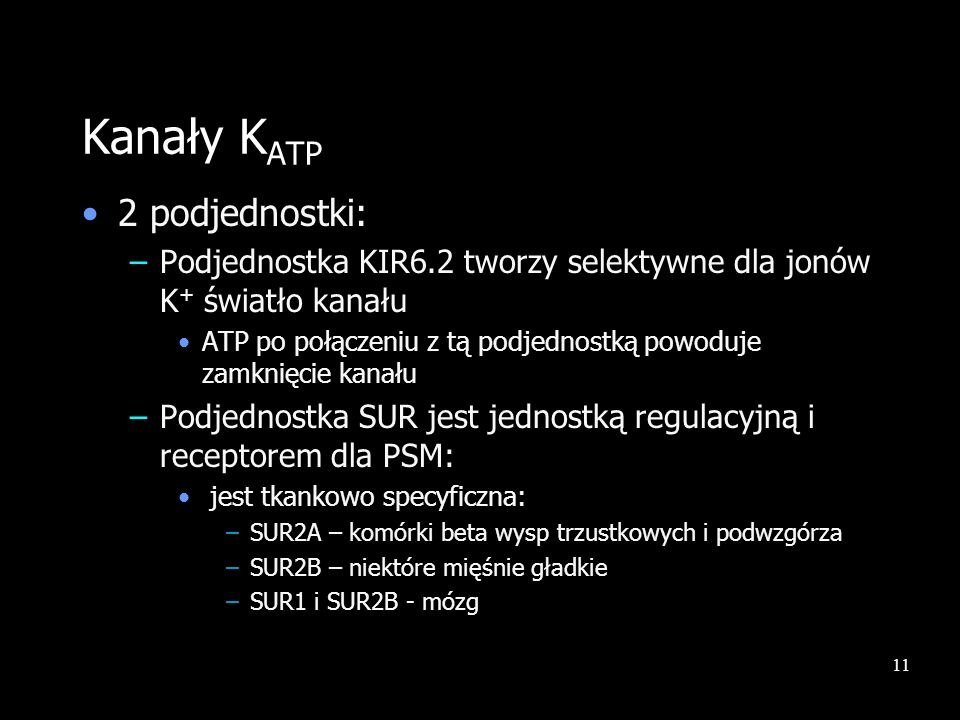 Kanały KATP 2 podjednostki: