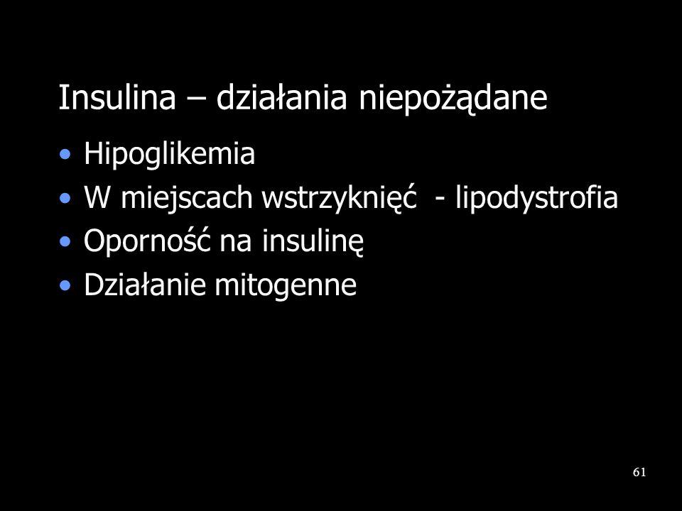 Insulina – działania niepożądane