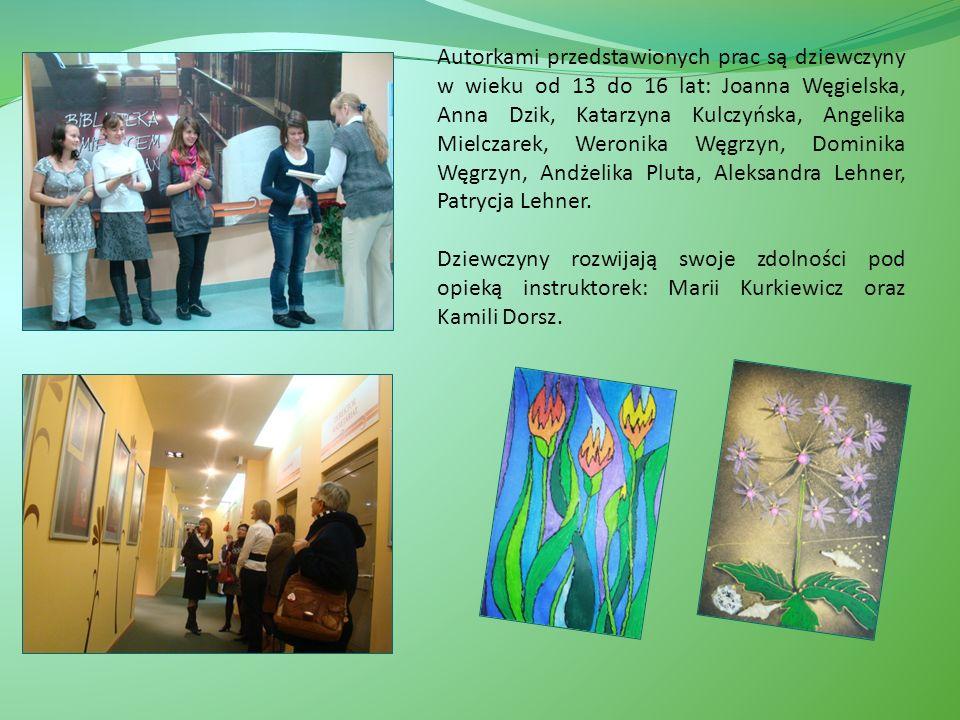 Autorkami przedstawionych prac są dziewczyny w wieku od 13 do 16 lat: Joanna Węgielska, Anna Dzik, Katarzyna Kulczyńska, Angelika Mielczarek, Weronika Węgrzyn, Dominika Węgrzyn, Andżelika Pluta, Aleksandra Lehner, Patrycja Lehner.