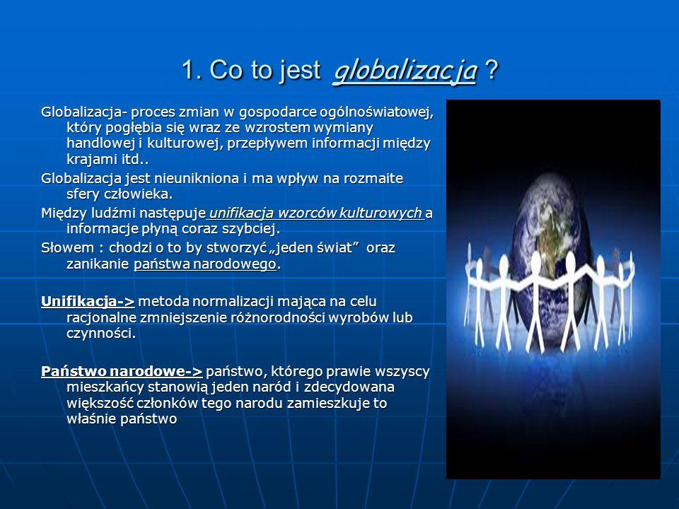 1. Co to jest globalizacja