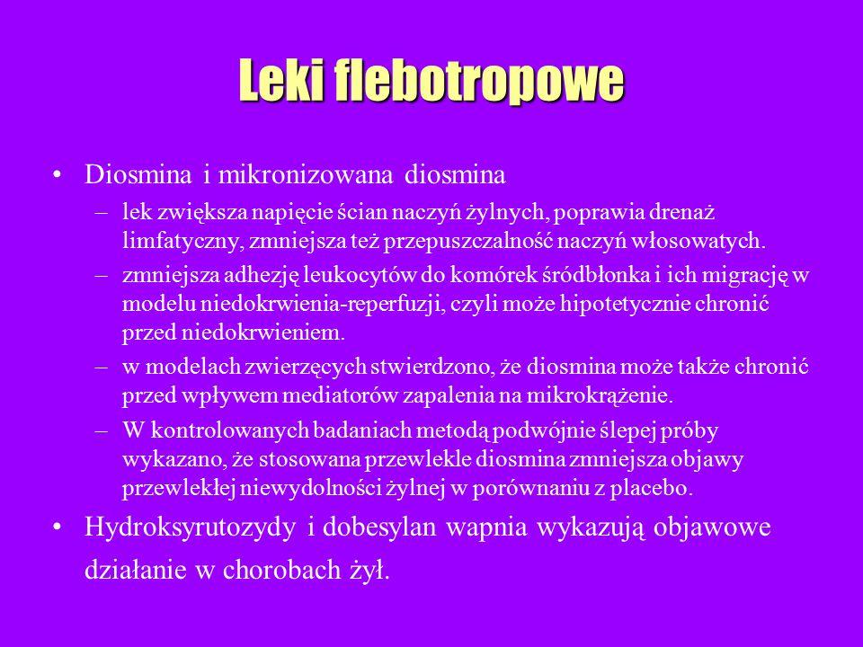 Leki flebotropowe Diosmina i mikronizowana diosmina