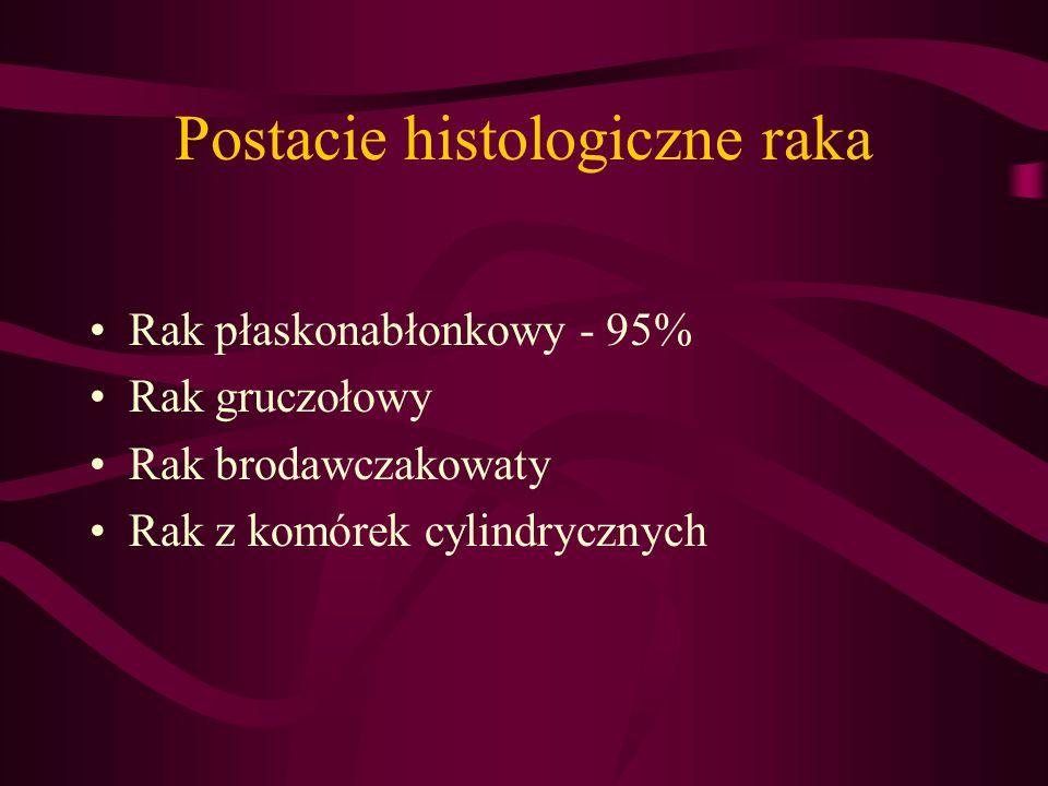 Postacie histologiczne raka