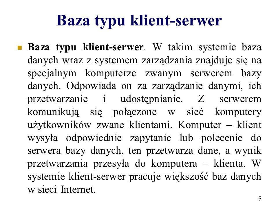 Baza typu klient-serwer