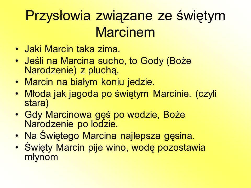 Przysłowia związane ze świętym Marcinem