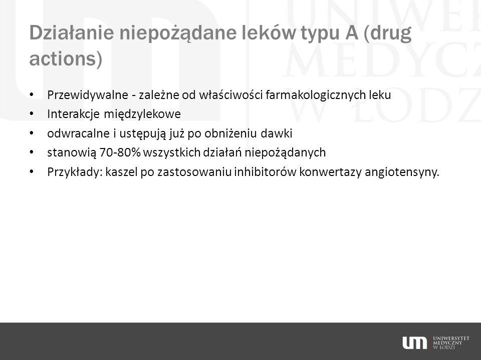 Działanie niepożądane leków typu A (drug actions)