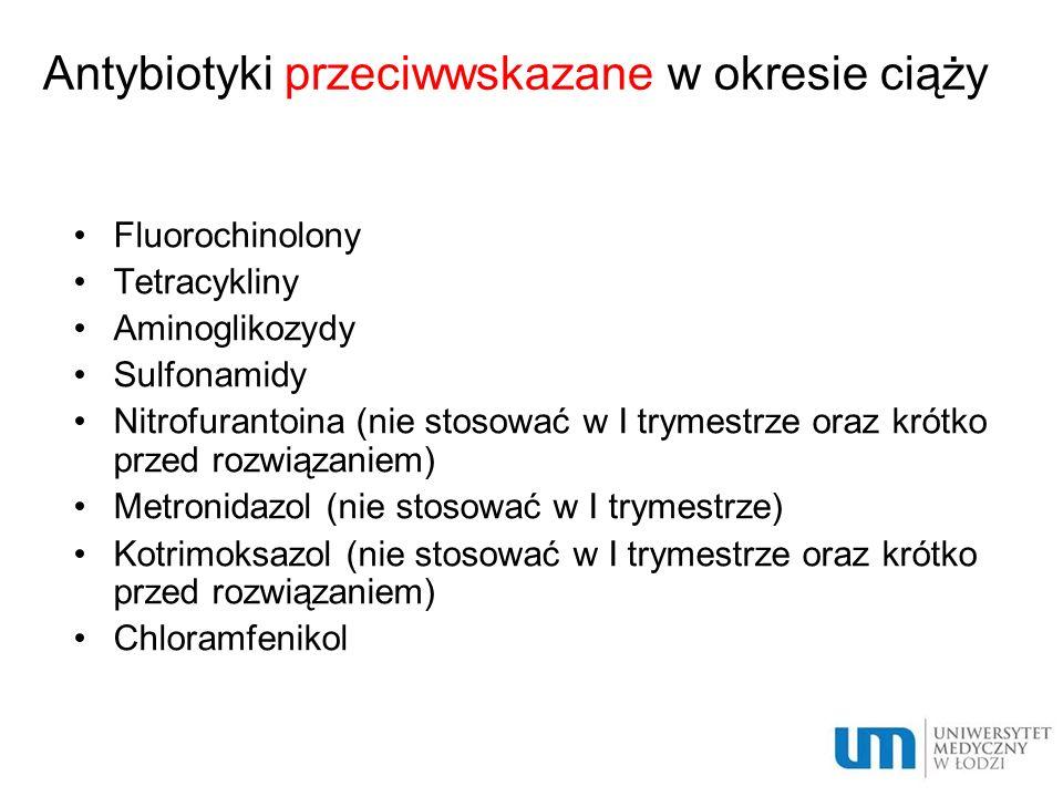 Antybiotyki przeciwwskazane w okresie ciąży