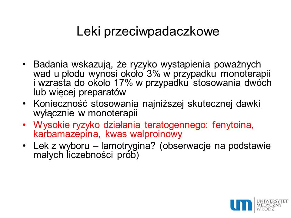 Leki przeciwpadaczkowe