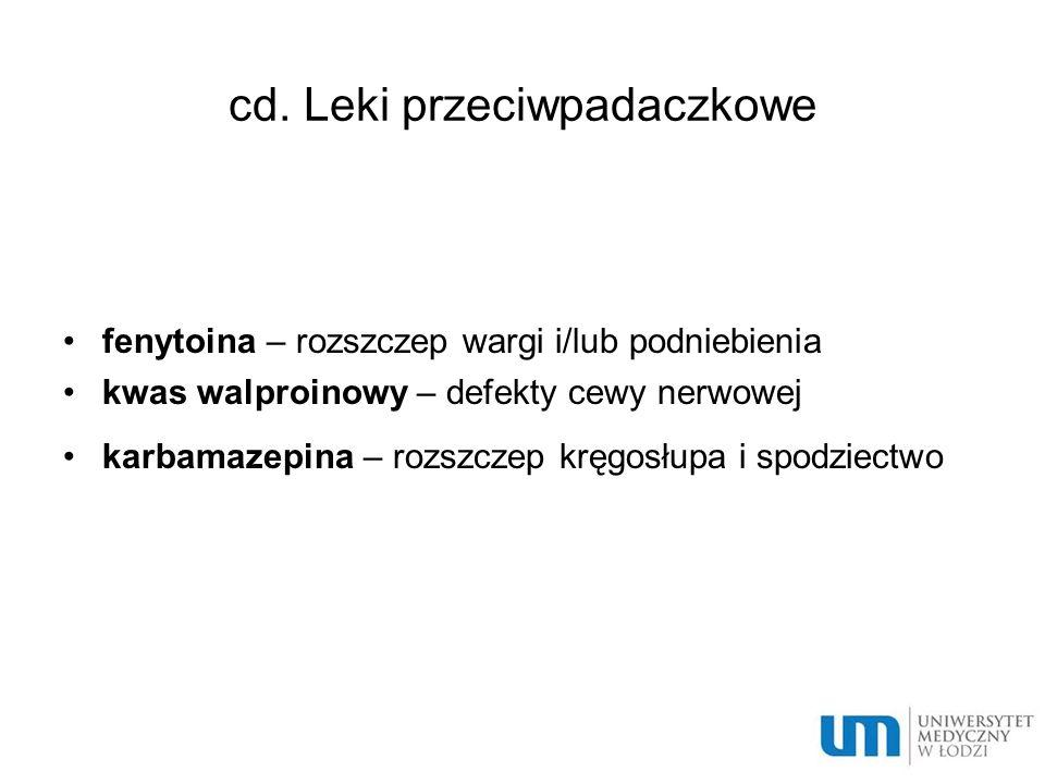 cd. Leki przeciwpadaczkowe