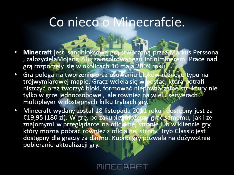 Co nieco o Minecrafcie.