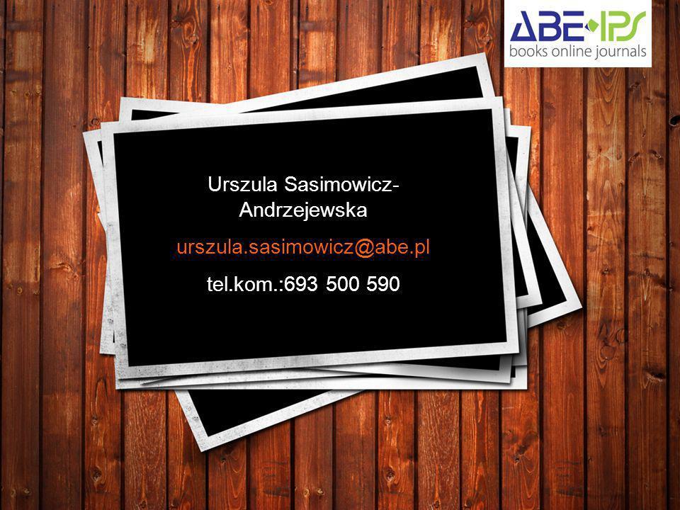 Urszula Sasimowicz-Andrzejewska