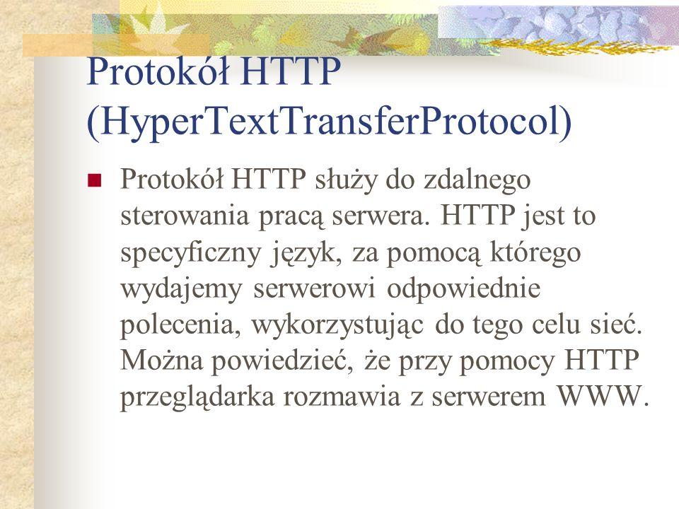 Protokół HTTP (HyperTextTransferProtocol)