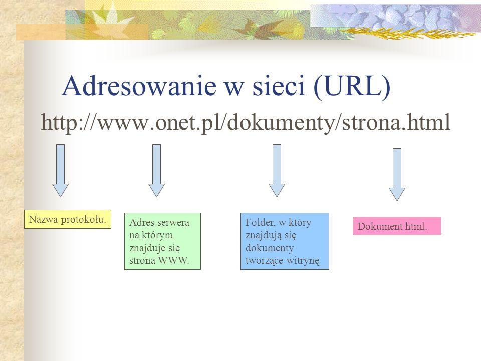 Adresowanie w sieci (URL)