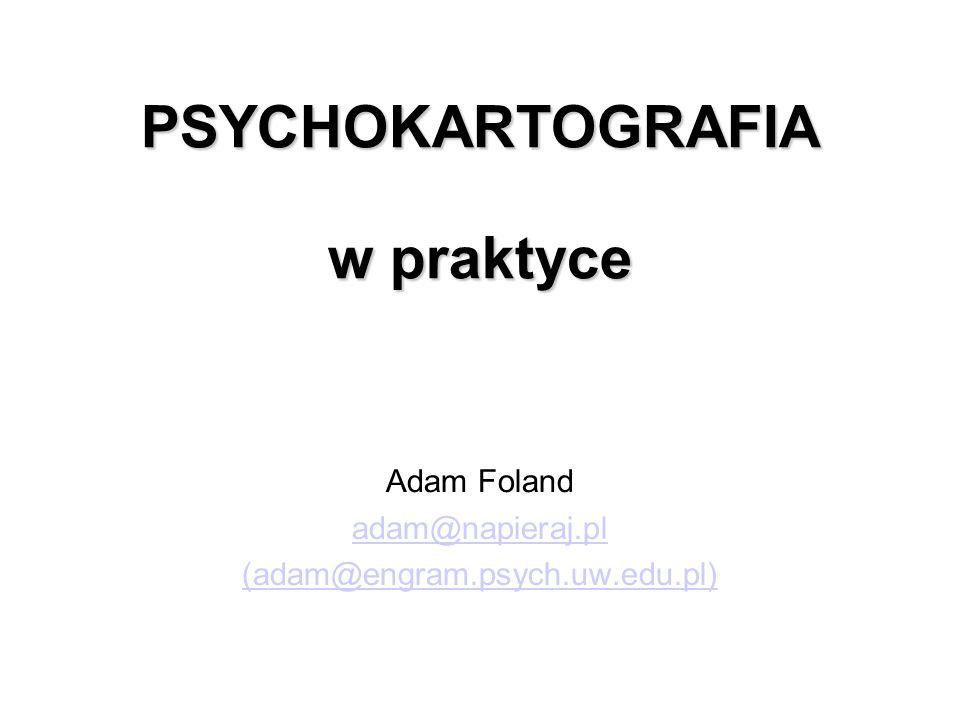 PSYCHOKARTOGRAFIA w praktyce
