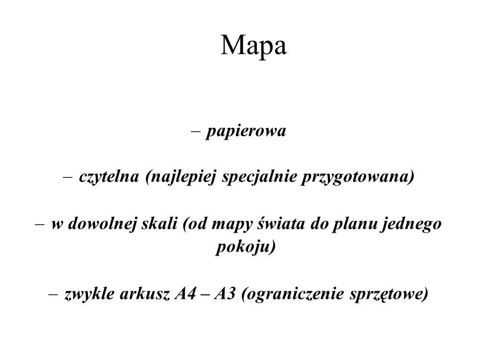 Mapa papierowa czytelna (najlepiej specjalnie przygotowana)