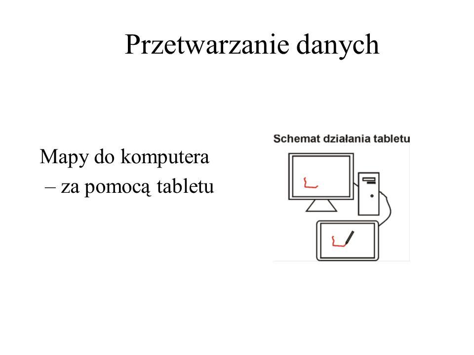 Przetwarzanie danych Mapy do komputera – za pomocą tabletu