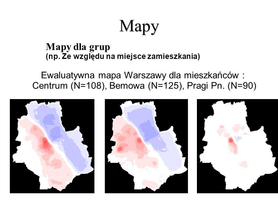 Mapy Mapy dla grup Ewaluatywna mapa Warszawy dla mieszkańców :