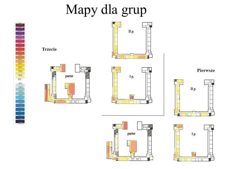 Mapy dla grup Trzecie Pierwsze