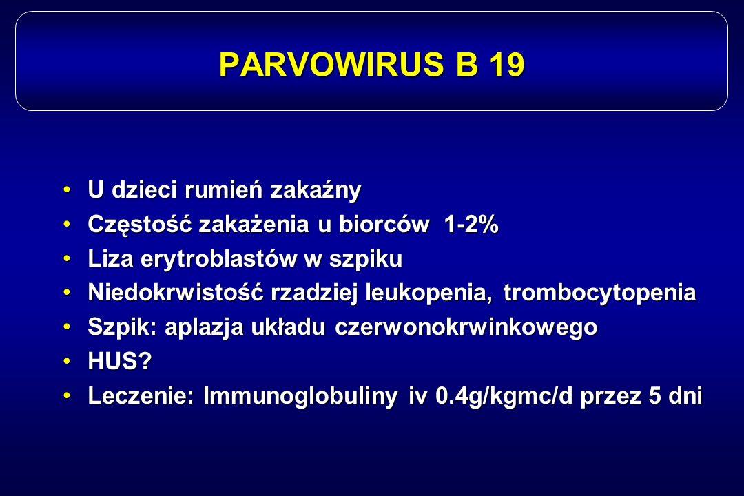 PARVOWIRUS B 19 U dzieci rumień zakaźny