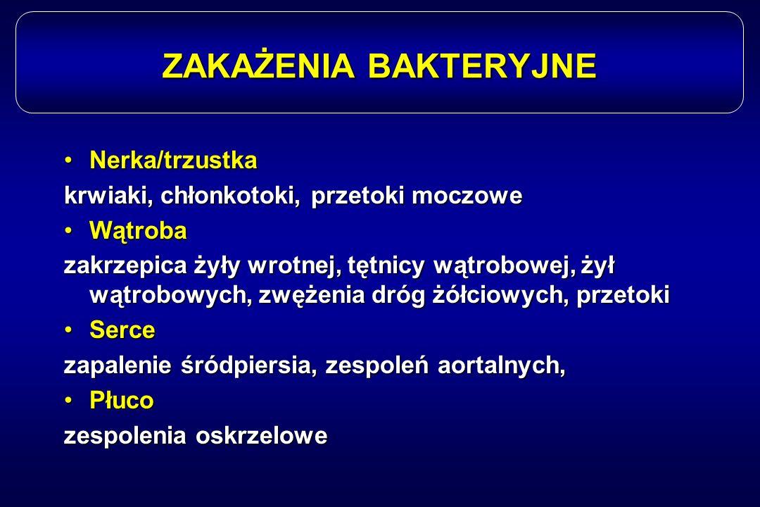 ZAKAŻENIA BAKTERYJNE Nerka/trzustka