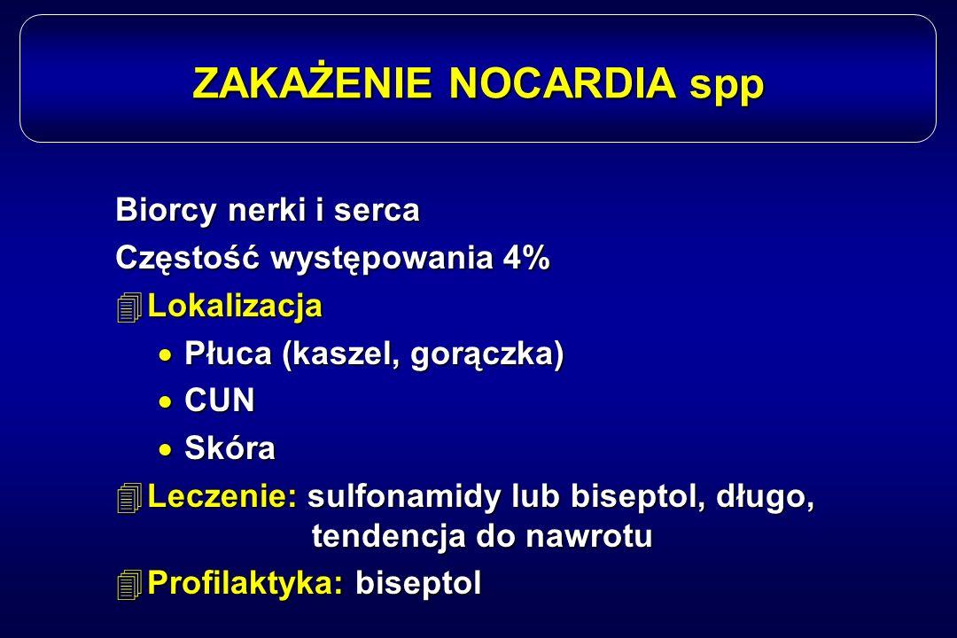 ZAKAŻENIE NOCARDIA spp