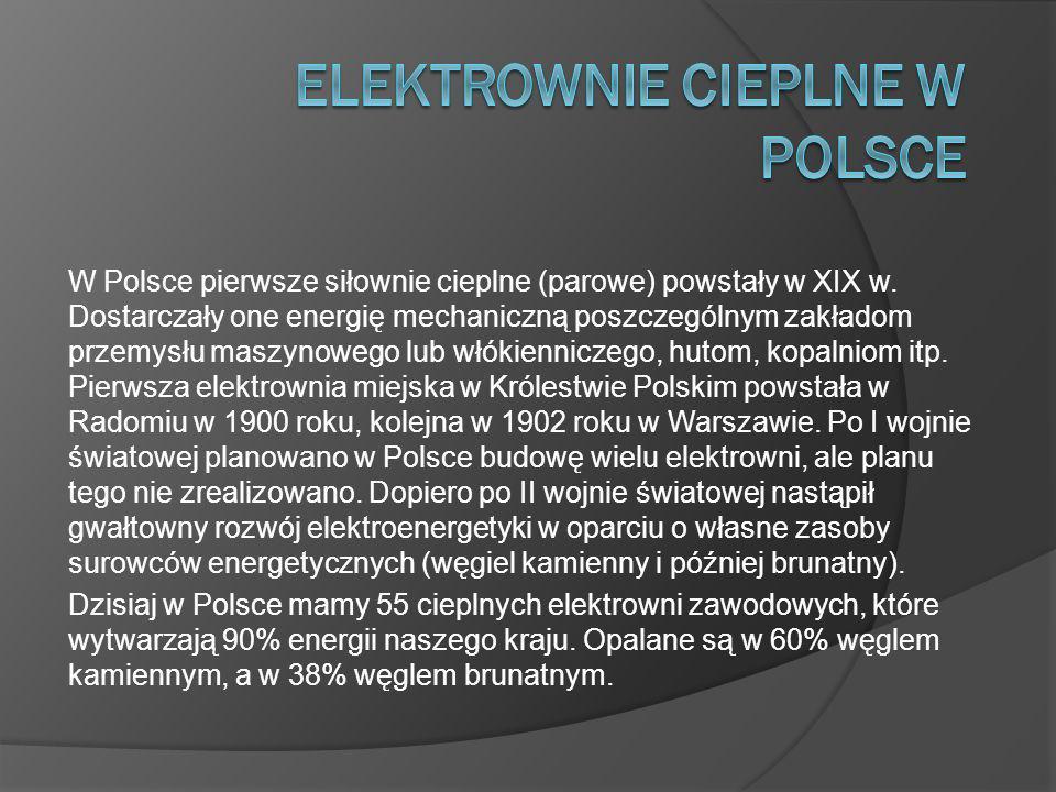 Elektrownie cieplne w Polsce