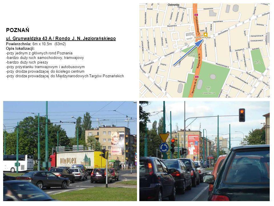 POZNAŃ ul. Grunwaldzka 43 A / Rondo J. N. Jeziorańskiego