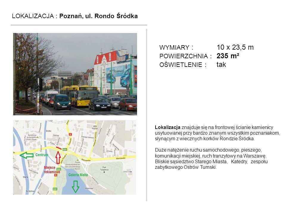 LOKALIZACJA : Poznań, ul. Rondo Śródka