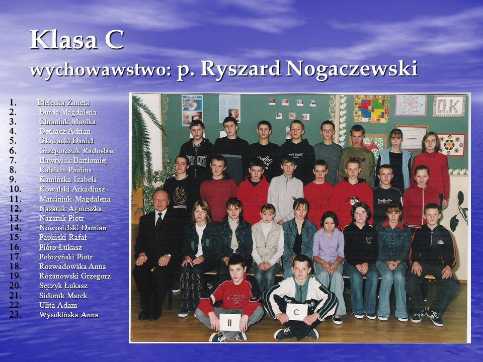 Klasa C wychowawstwo: p. Ryszard Nogaczewski