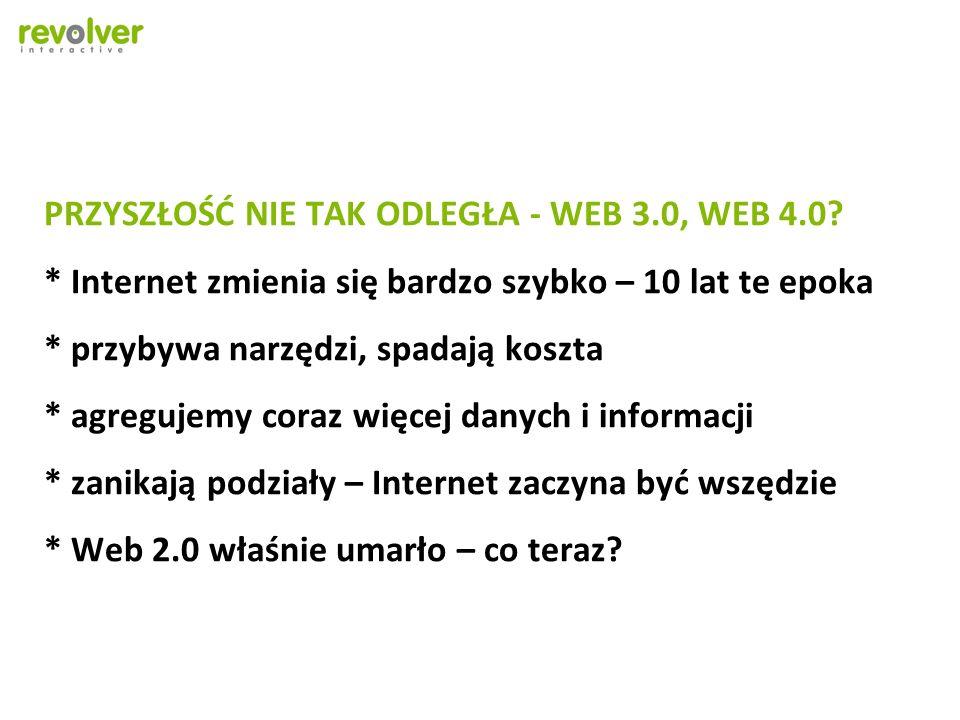 PRZYSZŁOŚĆ NIE TAK ODLEGŁA - WEB 3. 0, WEB 4