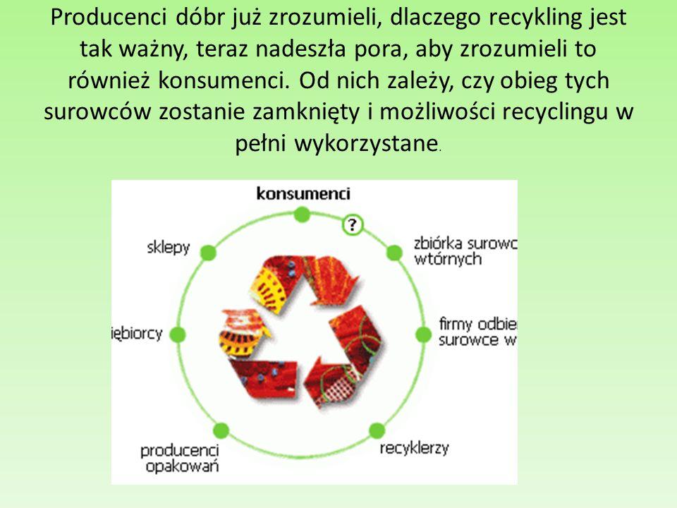 Producenci dóbr już zrozumieli, dlaczego recykling jest tak ważny, teraz nadeszła pora, aby zrozumieli to również konsumenci.