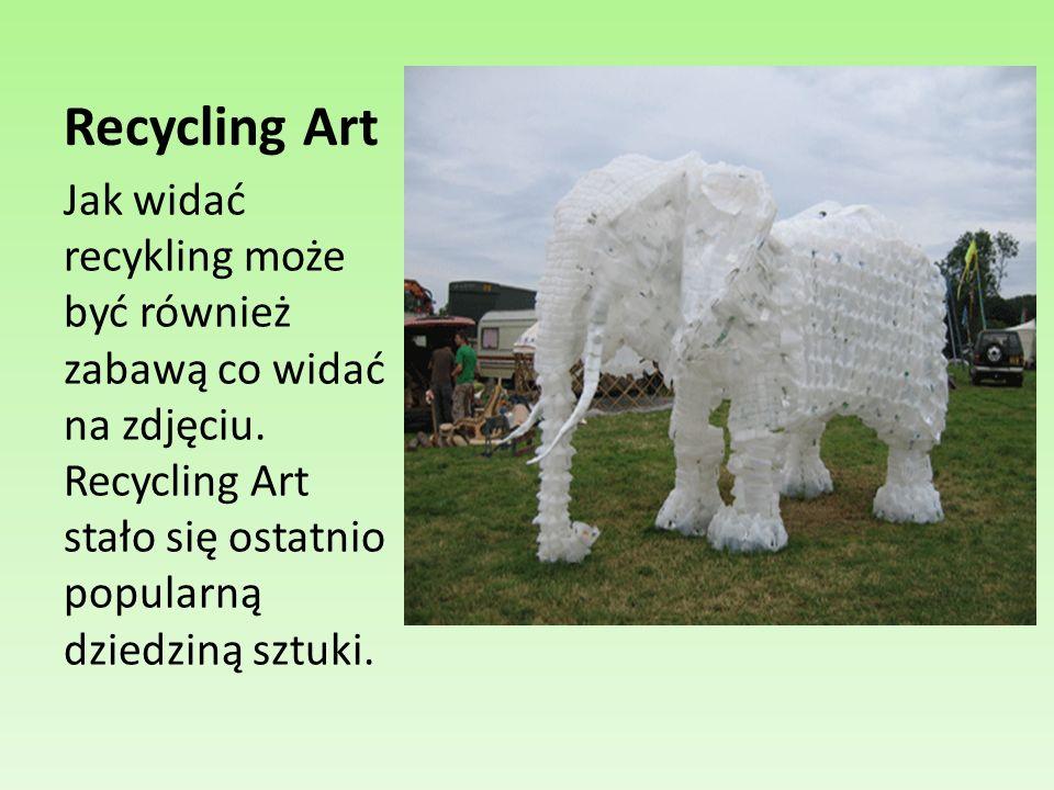 Recycling Art Jak widać recykling może być również zabawą co widać na zdjęciu.