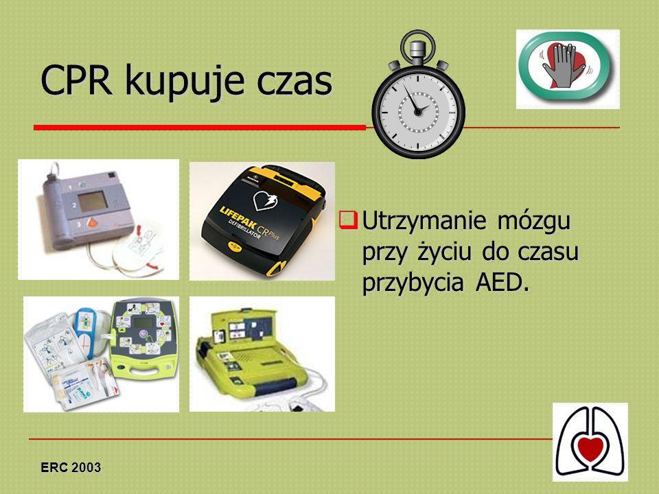 CPR kupuje czas Utrzymanie mózgu przy życiu do czasu przybycia AED.