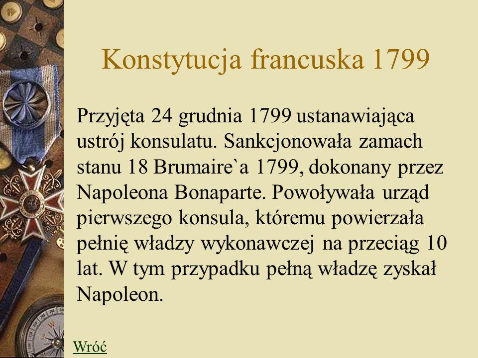 Konstytucja francuska 1799