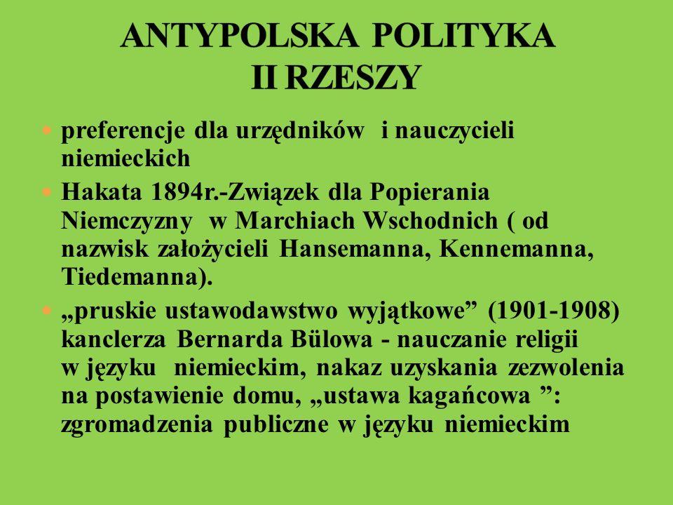 ANTYPOLSKA POLITYKA II RZESZY