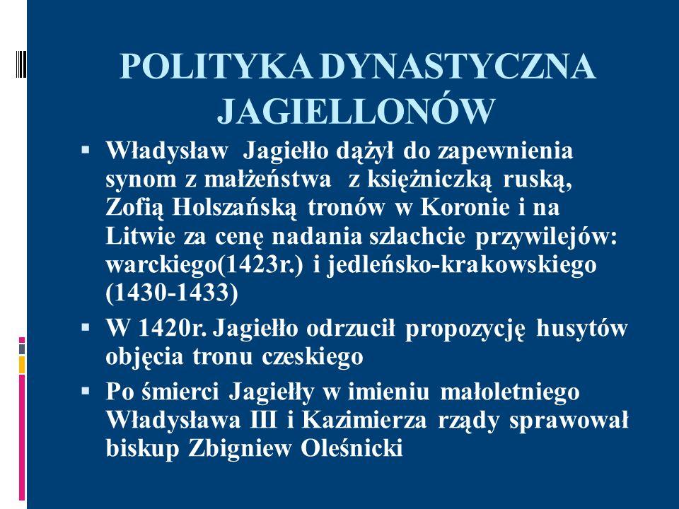 POLITYKA DYNASTYCZNA JAGIELLONÓW