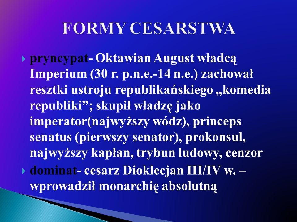 FORMY CESARSTWA