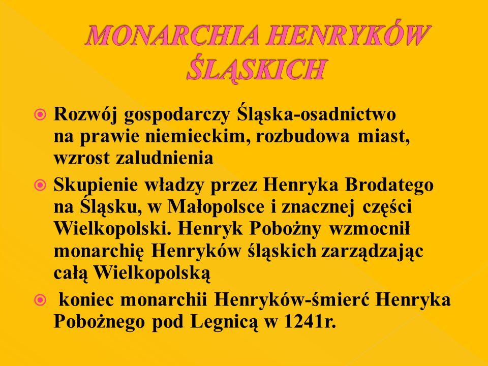 MONARCHIA HENRYKÓW ŚLĄSKICH
