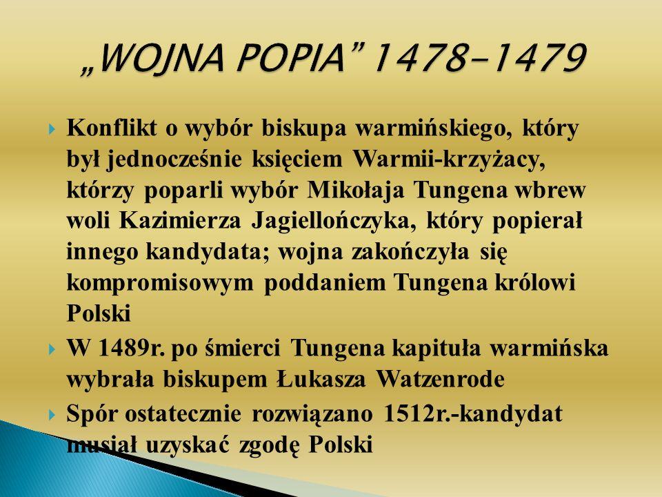 """""""WOJNA POPIA 1478-1479"""