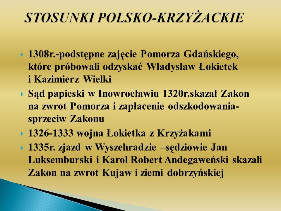 STOSUNKI POLSKO-KRZYŻACKIE
