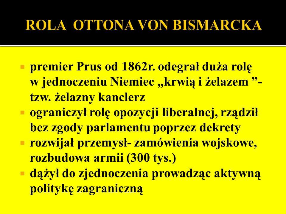 ROLA OTTONA VON BISMARCKA