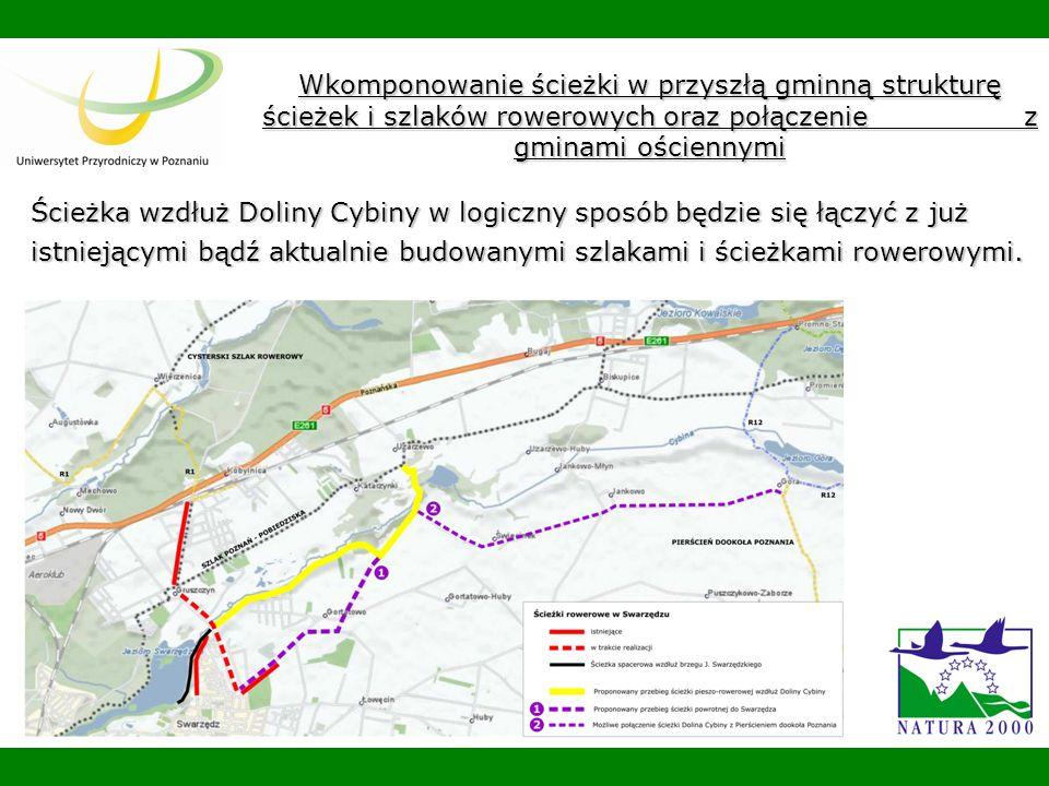 Wkomponowanie ścieżki w przyszłą gminną strukturę ścieżek i szlaków rowerowych oraz połączenie z gminami ościennymi