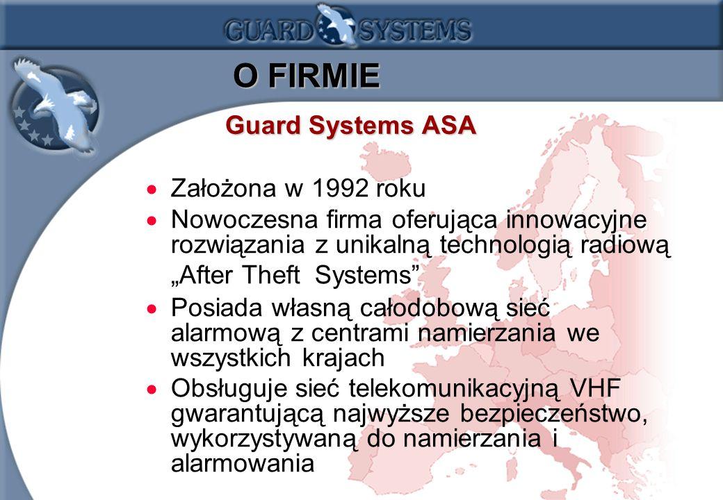 O FIRMIE Guard Systems ASA Założona w 1992 roku