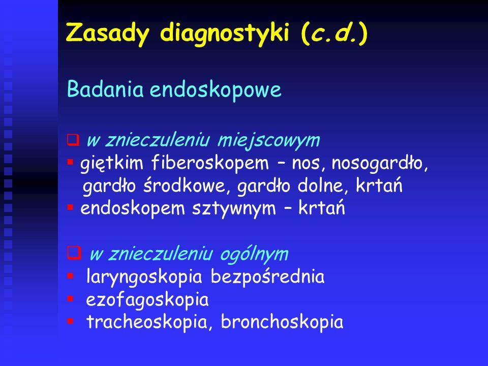 Zasady diagnostyki (c.d.)