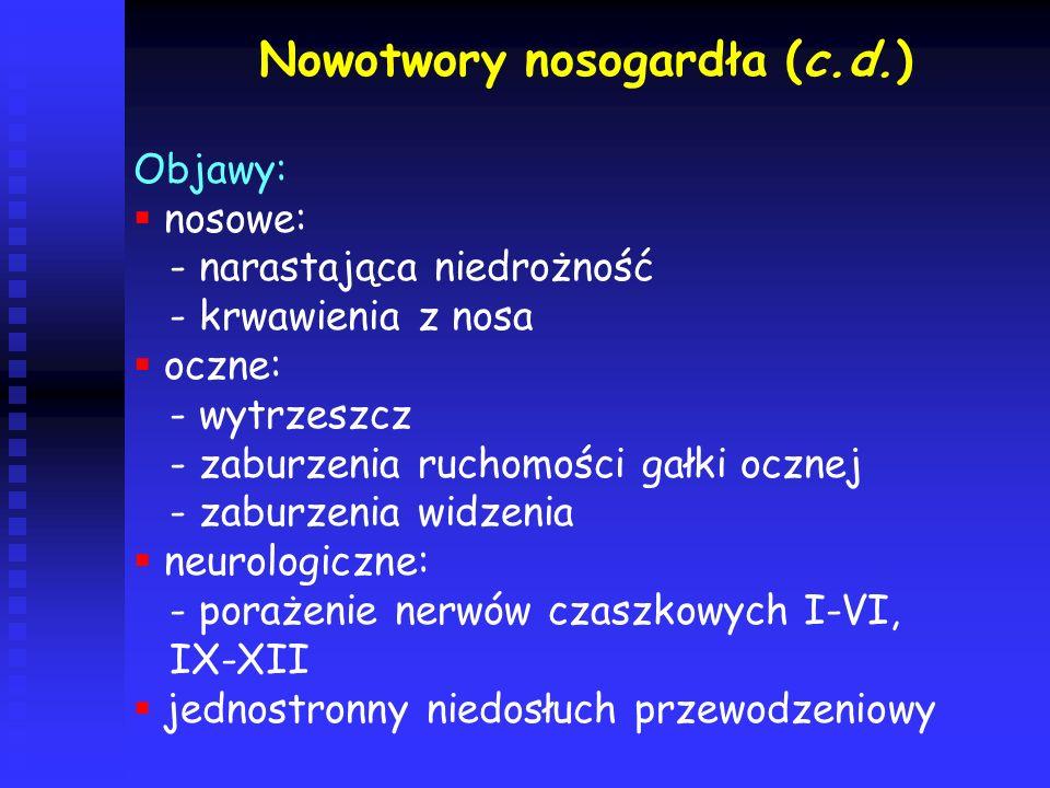 Nowotwory nosogardła (c.d.)