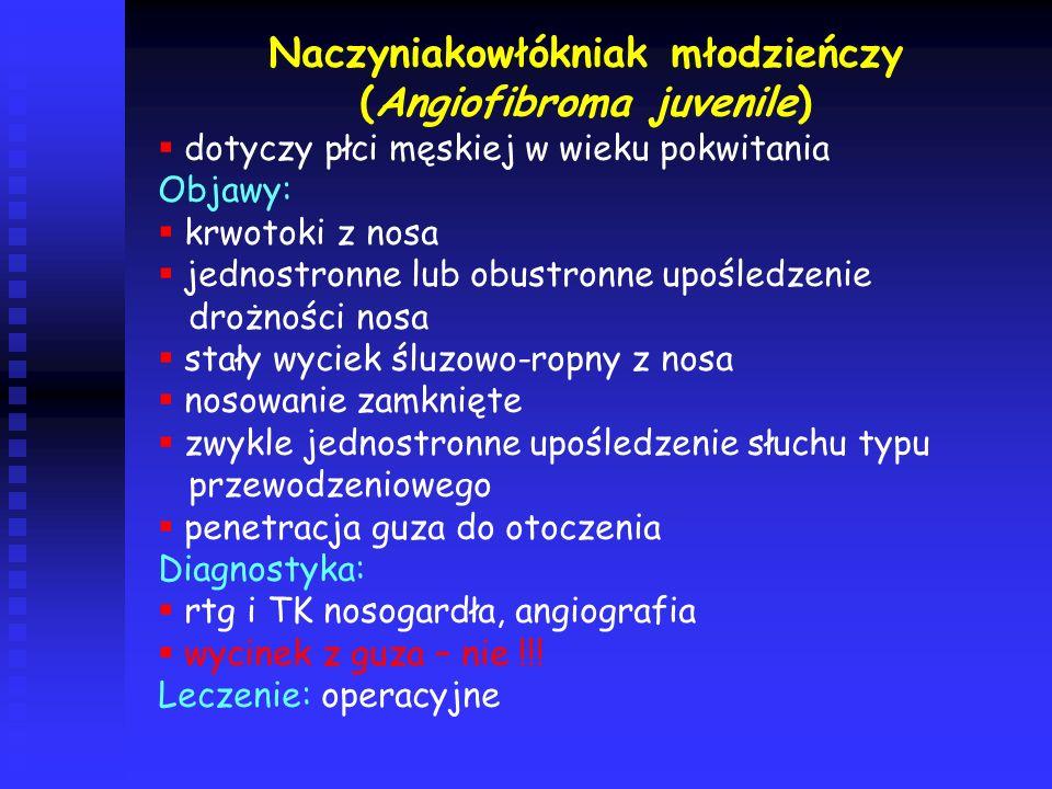 Naczyniakowłókniak młodzieńczy (Angiofibroma juvenile)